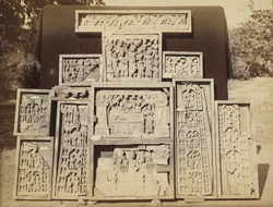 Miscellaneous Buddhist sculpture pieces from Mir Jan, Peshawar District. 10031098